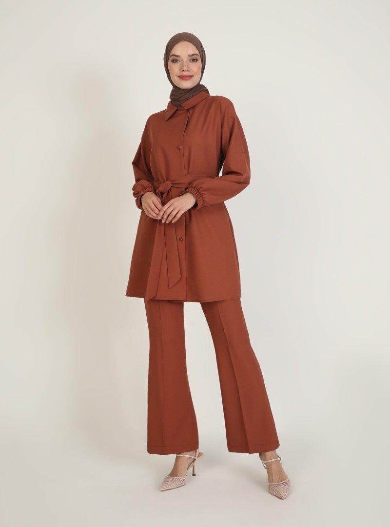 Ziwoman Taba Tunik & Pantolon İkili Takım