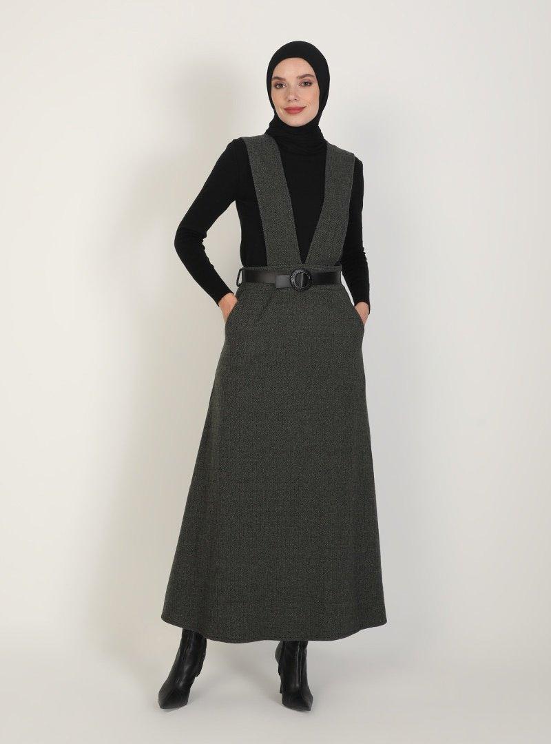 ZENANE Haki Desenli Elbise