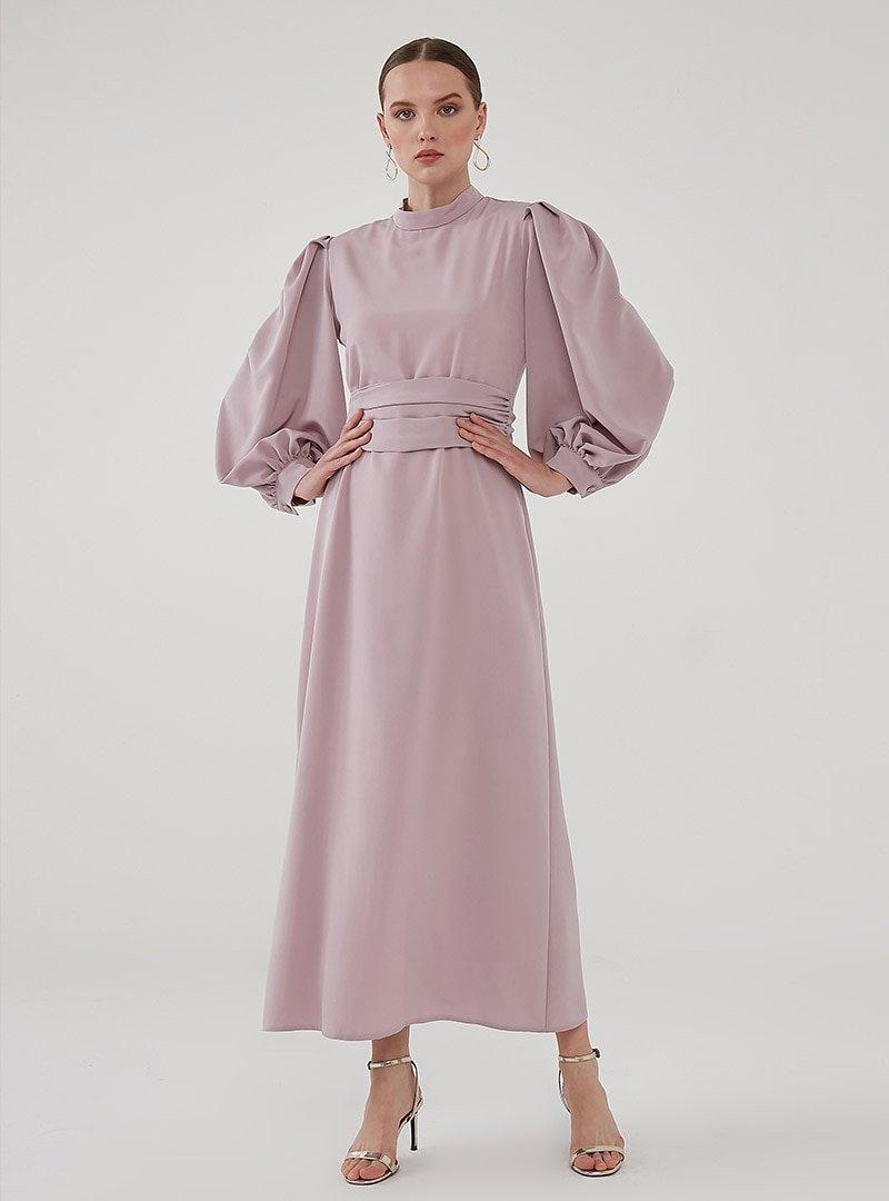 Birgül Bektaş Lila Nora Abiye Elbise
