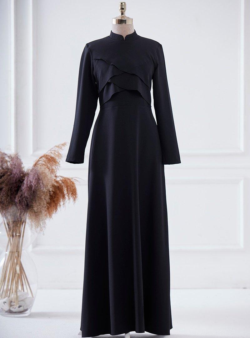LARACHE Siyah Pelerin Elbise