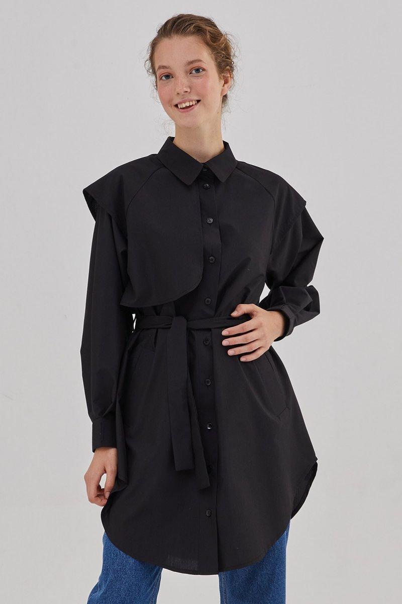 Hooopstore Siyah Emma Gömlek