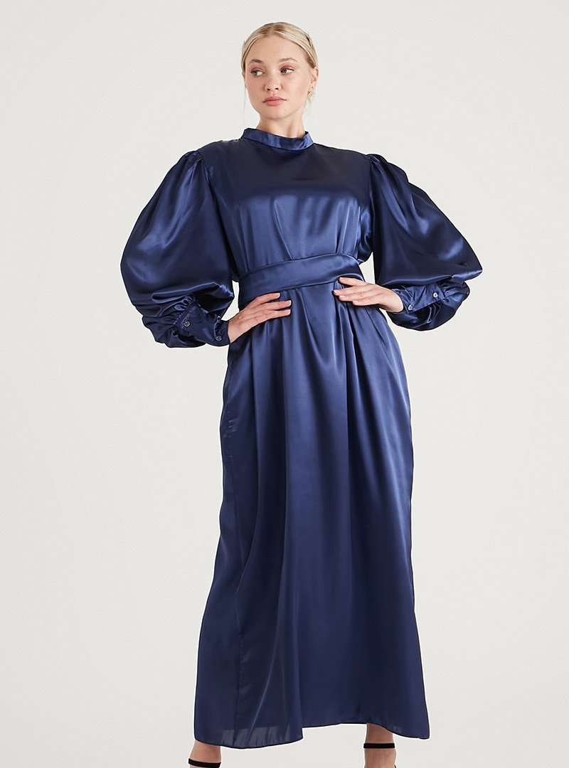 Birgül Bektaş Gece Mavisi Owen Abiye Elbise