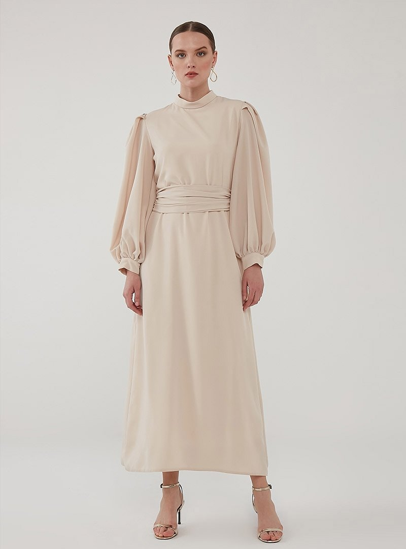 Birgül Bektaş Vizon Nora Abiye Elbise