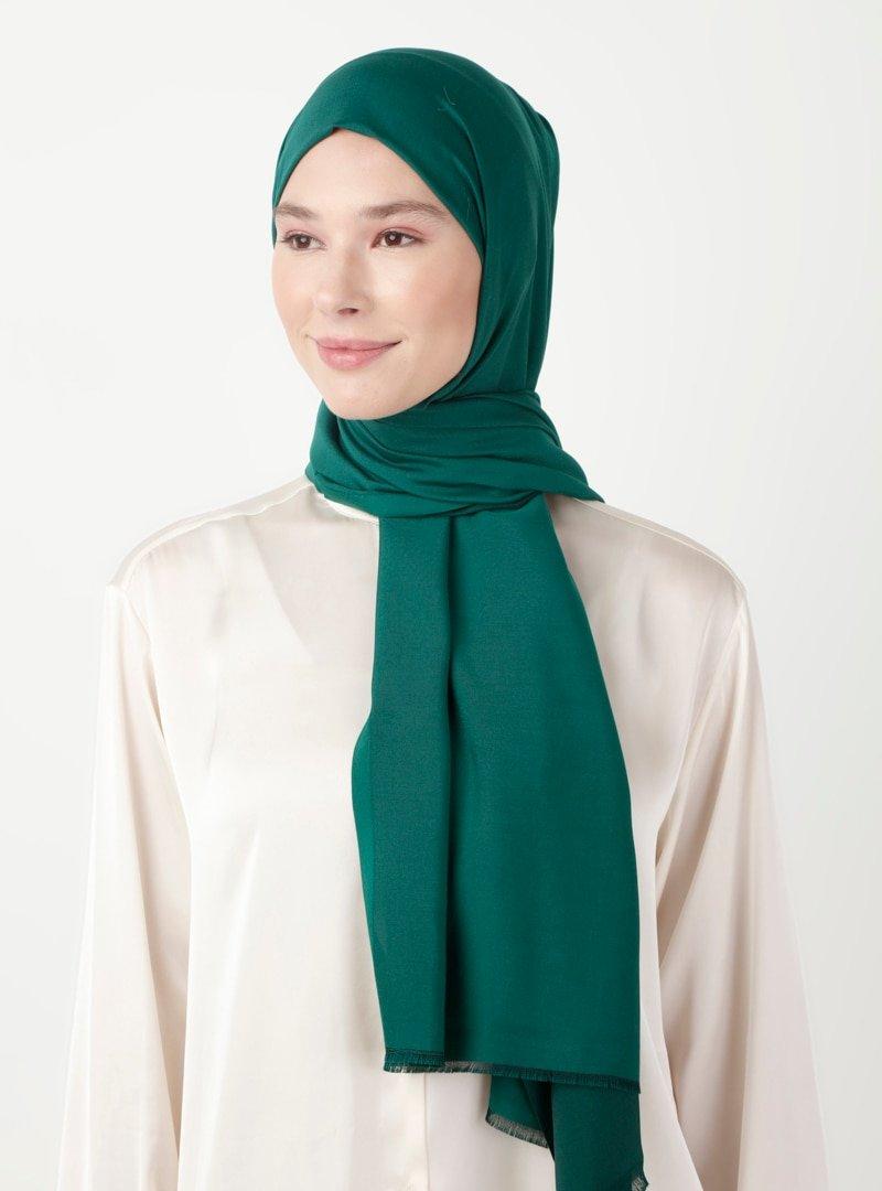 Soft Scarfs Zümrüt Yeşili Hıgh Quality Düz Şal