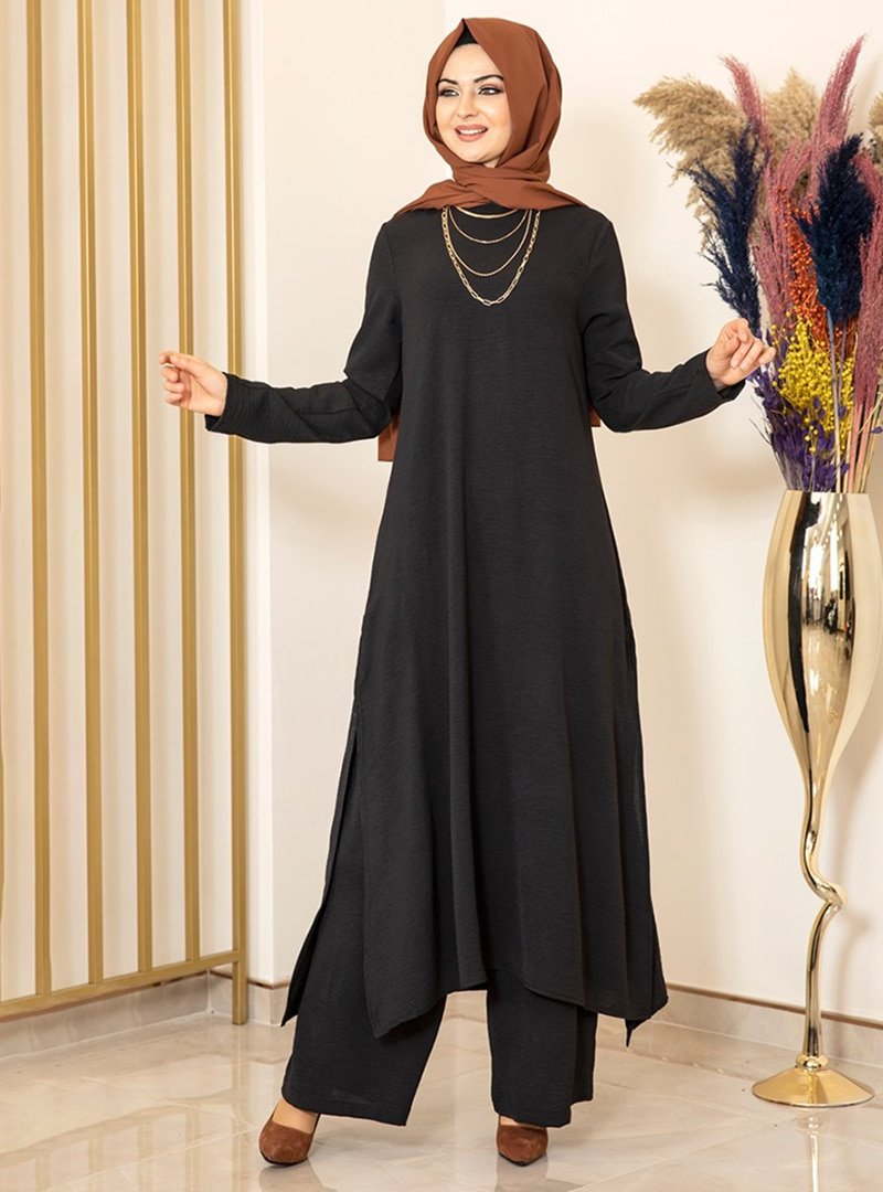Fashion Showcase Design Siyah Ece İkili Takım