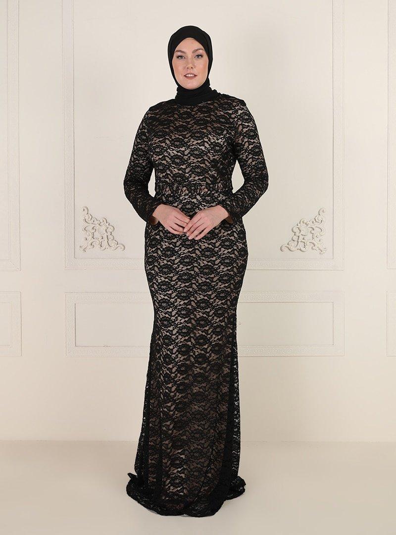 Mileny Vizon Dantelli Abiye Elbise