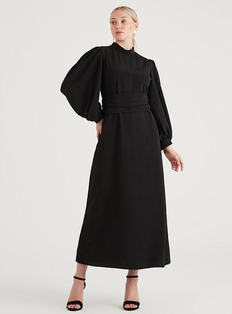 Birgül Bektaş Siyah Nora Abiye Elbise
