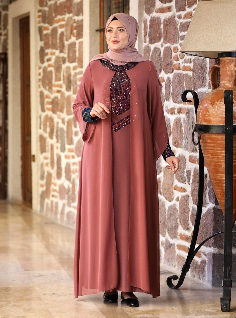 Amine Hüma Tarçın Narin Abiye Elbise