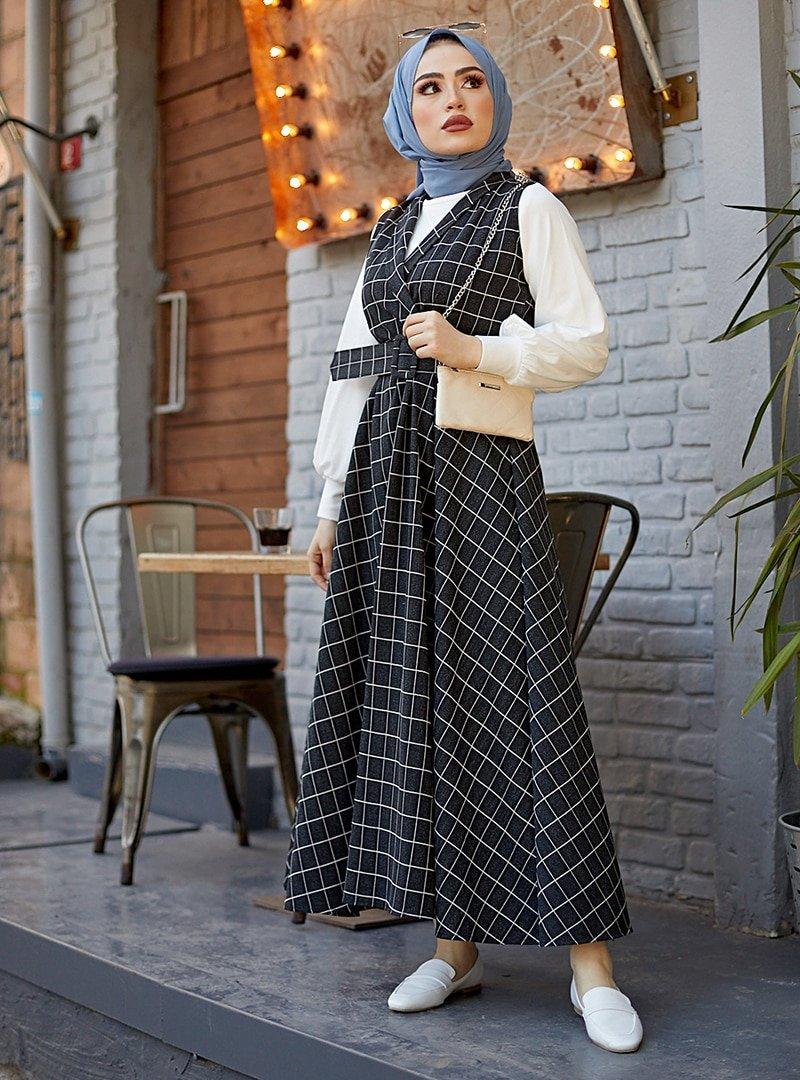 MODAEFA Siyah İkili Jile Takım Elbise