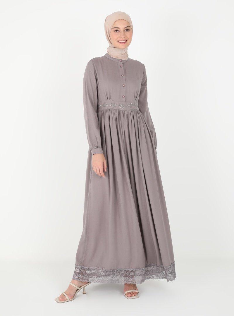 Ginezza Vizon Drop Baskılı Elbise