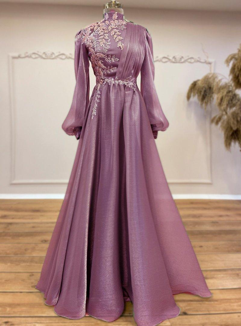 Gamze Özkul Lila Yeni Samyeli Abiye Elbise