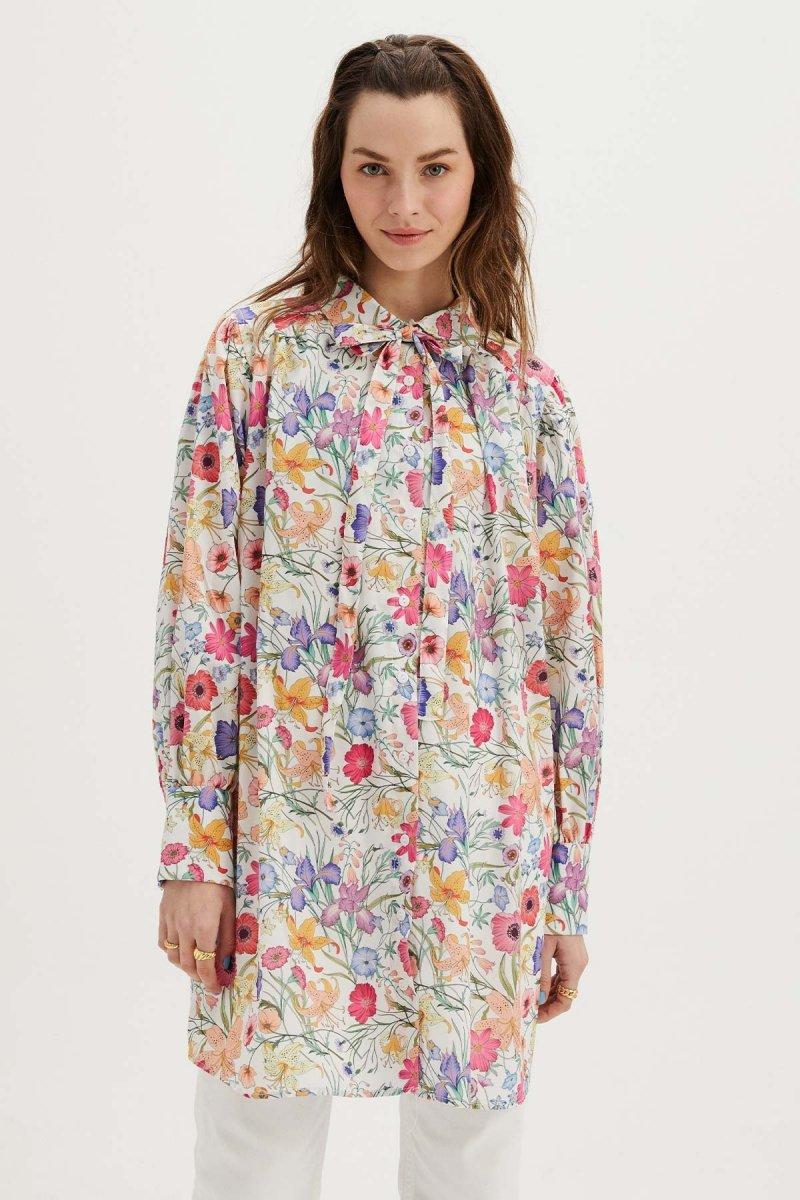 Hooopstore Pembe Çiçekli Gömlek