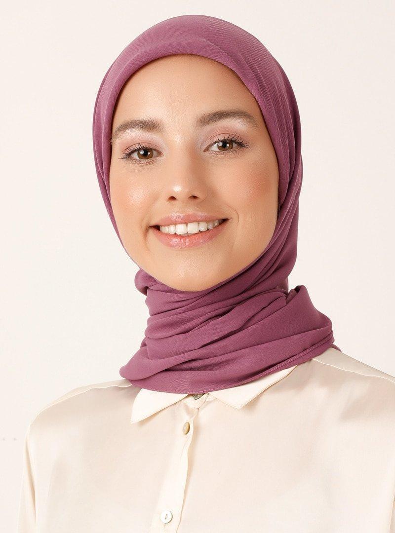 Miray Gül Rengi 120 Cm Jeddah Eşarp