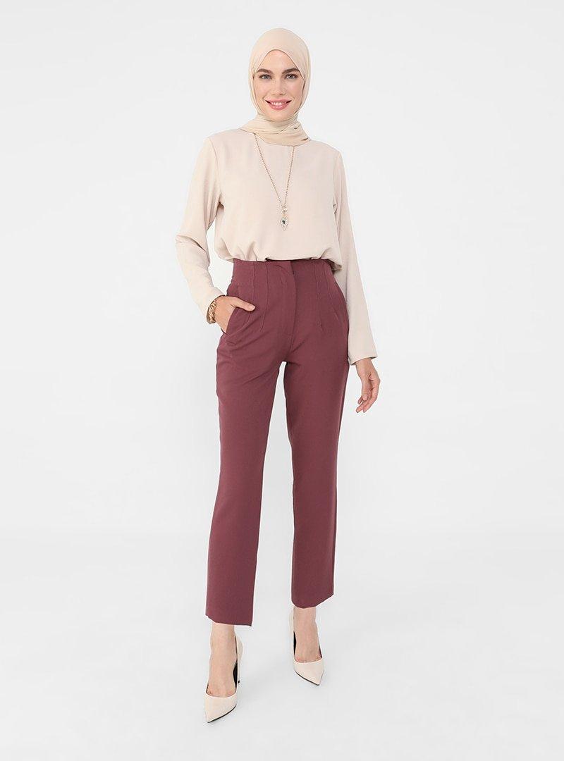 Refka Mürdüm Pens Detaylı Klasik Pantolon