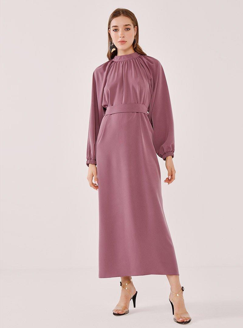Birgül Bektaş Gül Kurusu Rosa Abiye Elbise