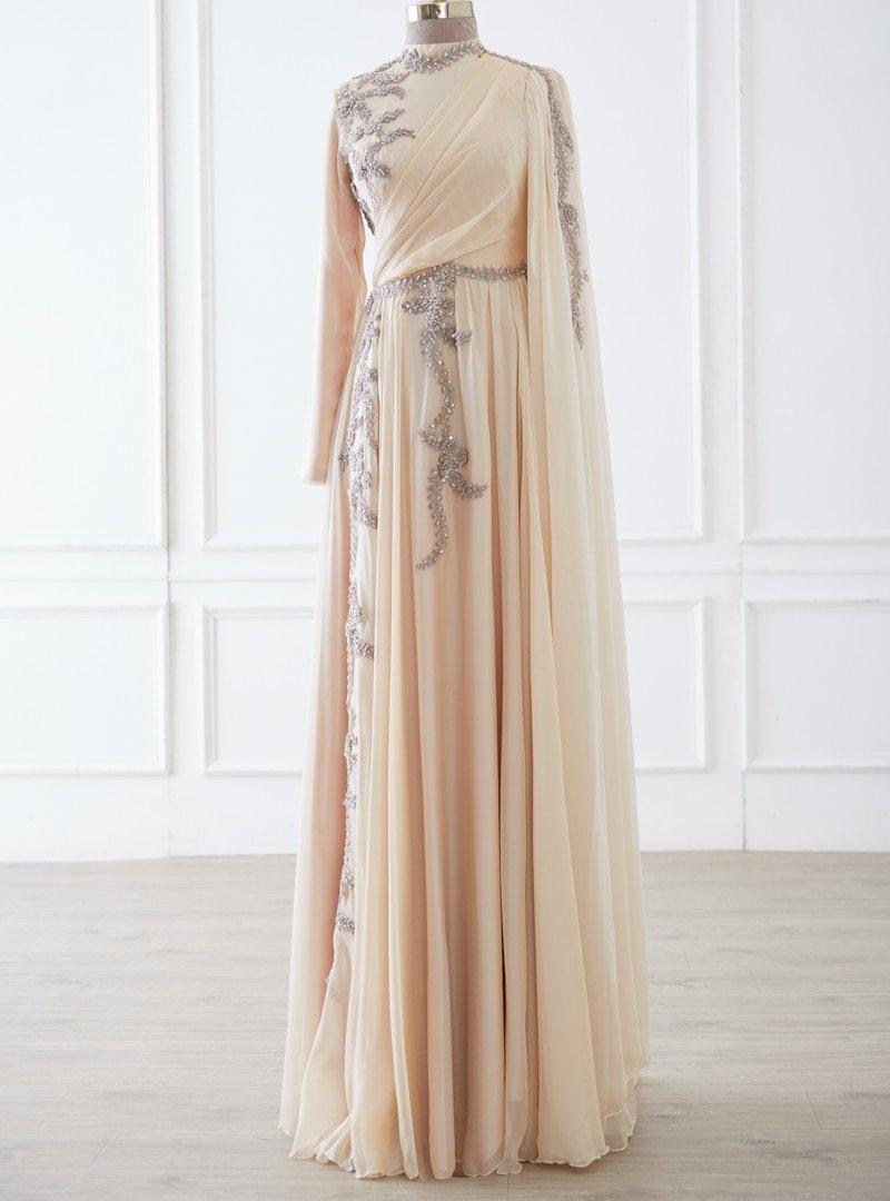 LARACHE Bej Hilal Abiye Elbise