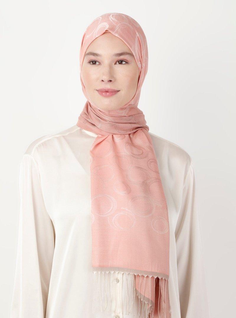 Soft Scarfs Somon Vizon Batikli Şal
