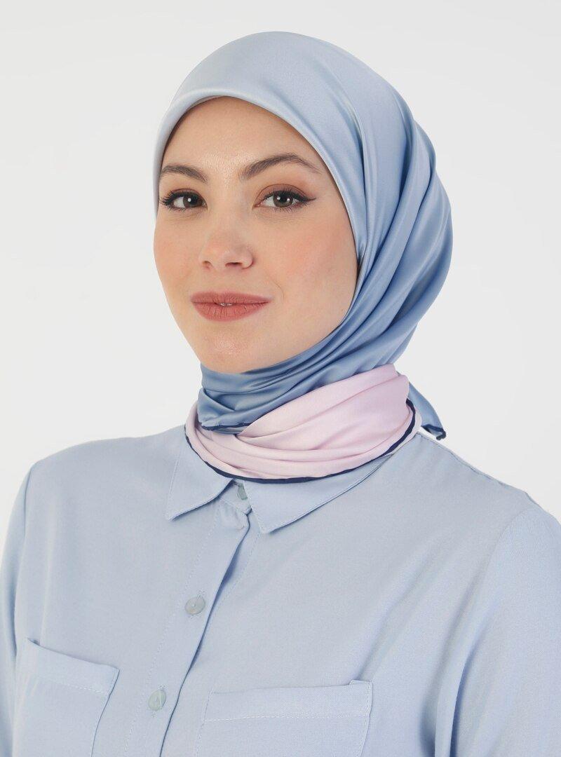 DIFFERENZA Mavi Omre Eşarp