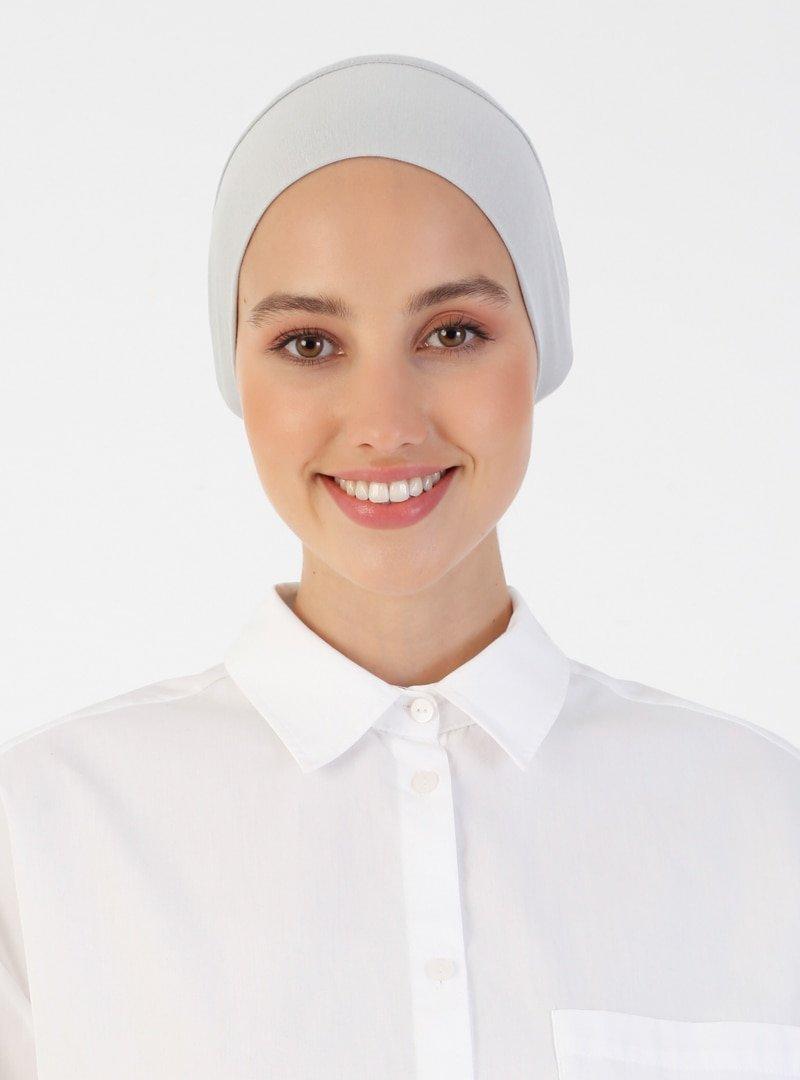 Ecardin Açık Gri Penye Geniş Ebatlı Geçme Bone