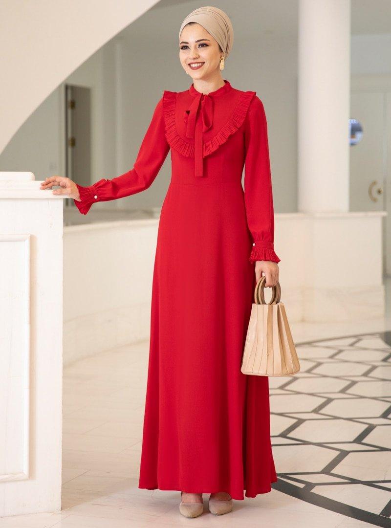 DressLife Kırmızı Irmak Abiye Elbise