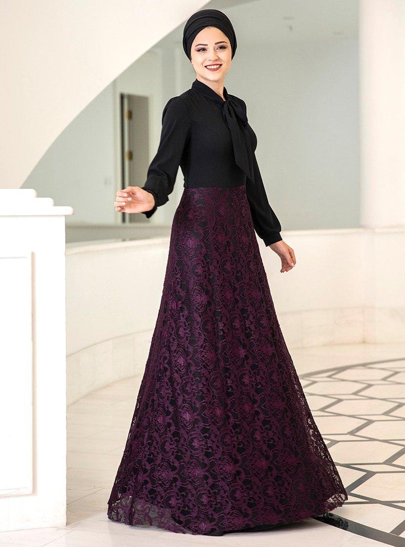DressLife Mürdüm Simge Elbise