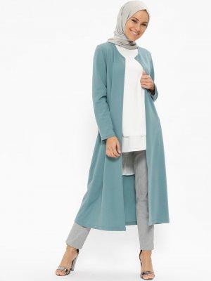 Miss Paye Mint Uzun Ceket