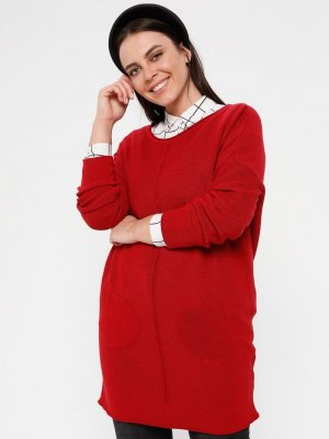 Okçu Kırmızı Triko Tunik
