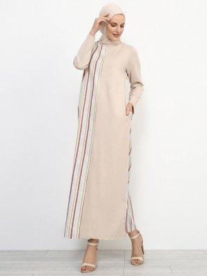 Refka Bej Çizgili Elbise
