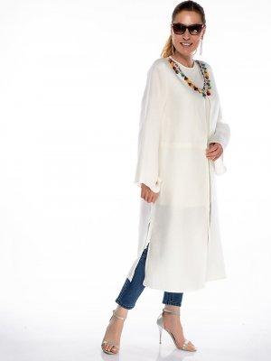 Melisita Ekru Yakası Püsküllü Kimono