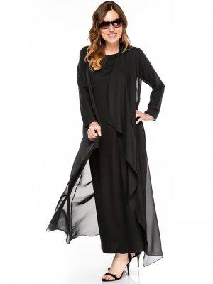 Melisita Siyah Elbise&Kap İkili Takım