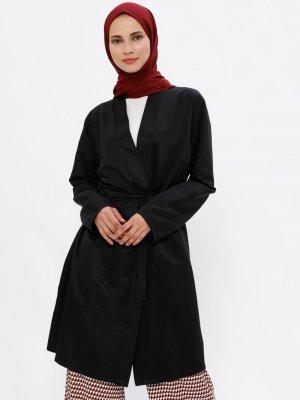 Miss Paye Siyah Kimono Ceket