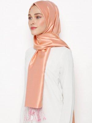 Silk Home Pembe Düz Renk İpek Şal