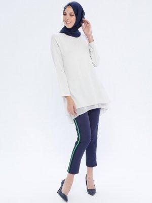 APSEN Lacivert Renkli Şerit Detaylı Pantolon