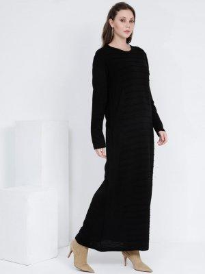 Alia Siyah Triko Elbise