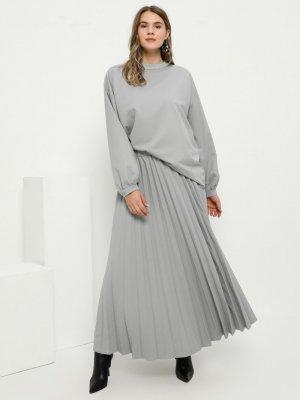 Alia Gümüş Bluz&Etek İkili Takım