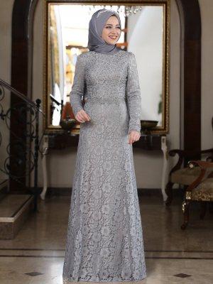Al-Marah Gri Beyzade Elbise